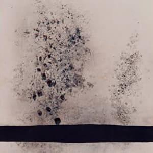 Il vento e la terra - Vetro e materiali diversi su pannello dipinto