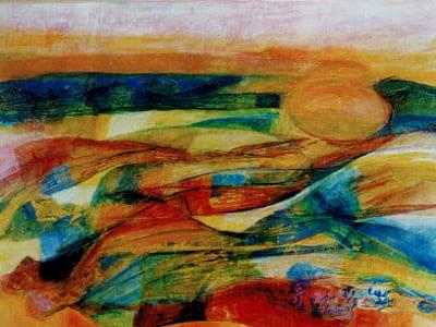 Laura Borelli - Paesaggio toscano, olio su tela