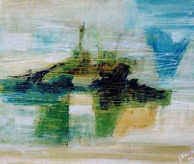 Laura Borelli - Il viaggio, olio su tela