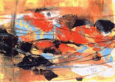 Laura Borelli - Una lunga estate calda, olio su cartone