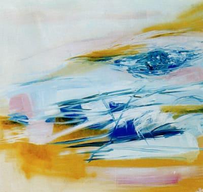 Laura Borelli - Marea azzurra, olio su tela
