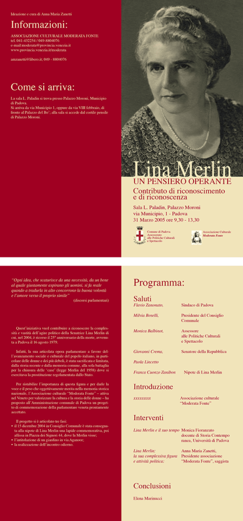 Lina Merlin Depliant